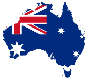 Map of Australia as Down Under Cruise and Dive is locally owned and operated